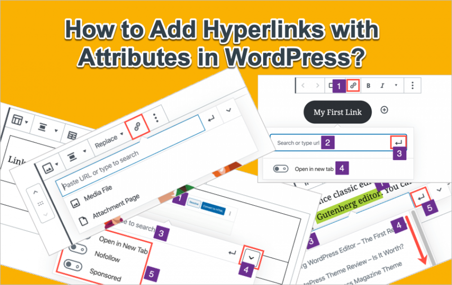 How to Add Hyperlinks with Attributes in WordPress?