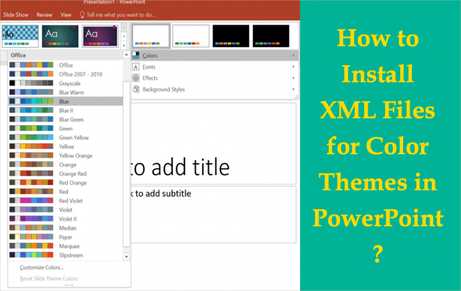 How to Install XML Files for Color Themes in PowerPoint?