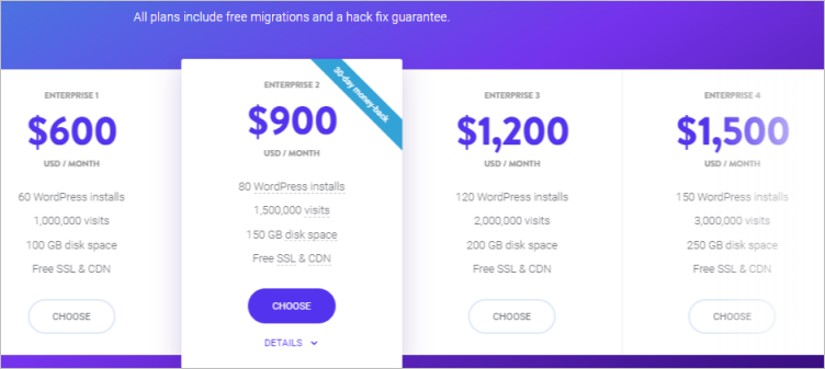Kinsta Enterprise Plans