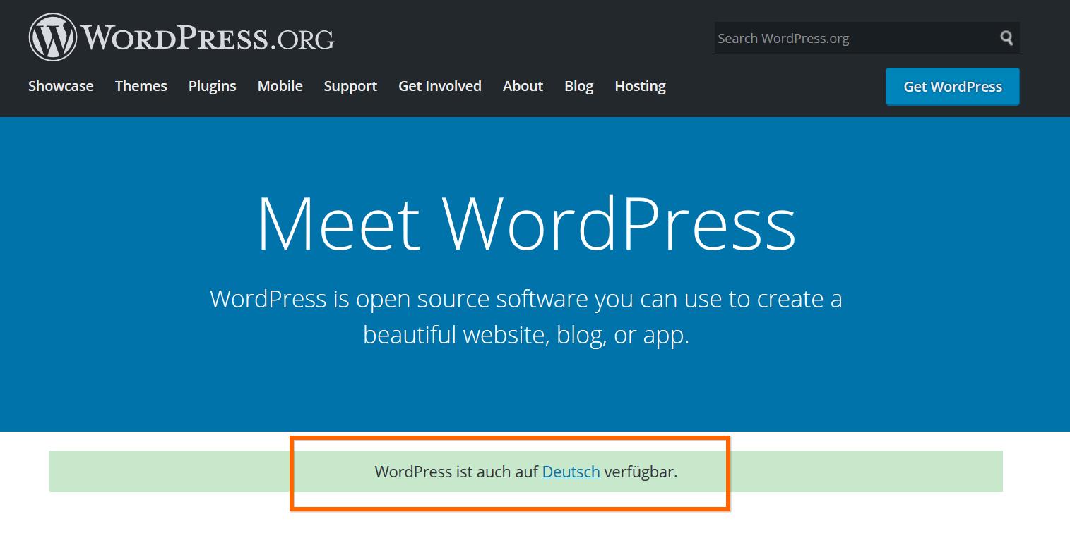 Multi-Language WordPress Example