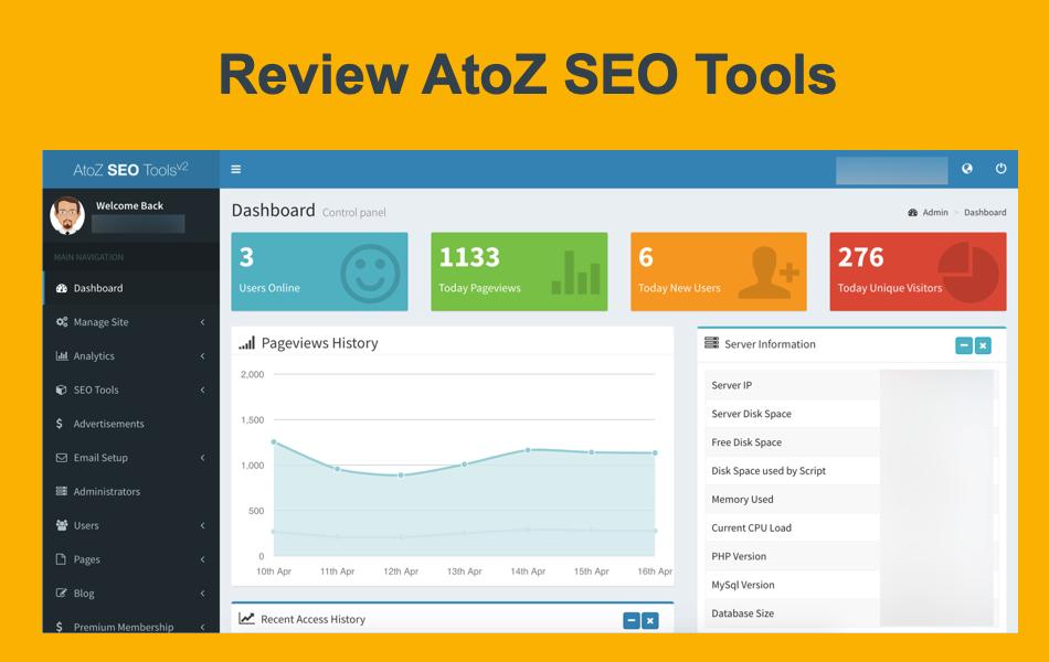 Review AtoZ SEO Tools