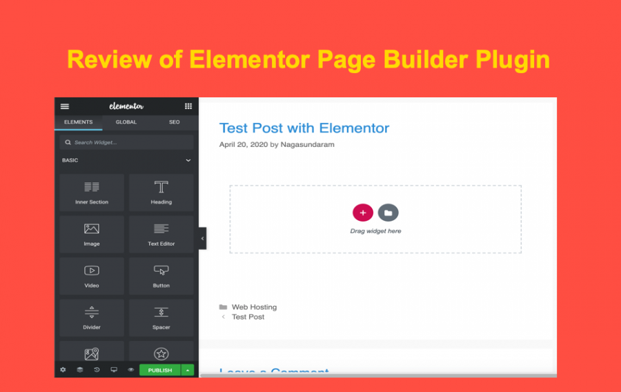 Review of Elementor Page Builder Plugin