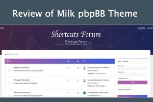 Review of Milk pbpBB Theme