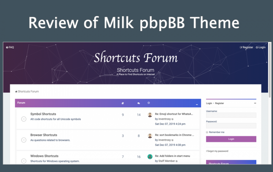 Review of Milk phpBB Theme – Is it Worth?