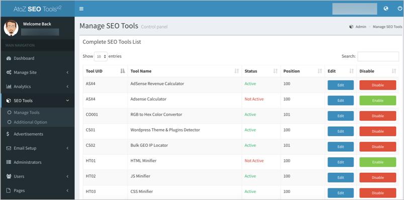 SEO Tools List