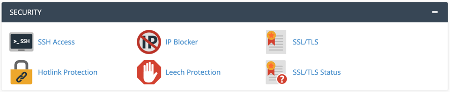 Security Tools in cPanel