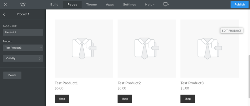 Setup Product Page in Weebly Editor