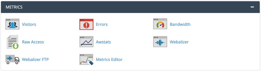 Site Metrics Features in cPanel