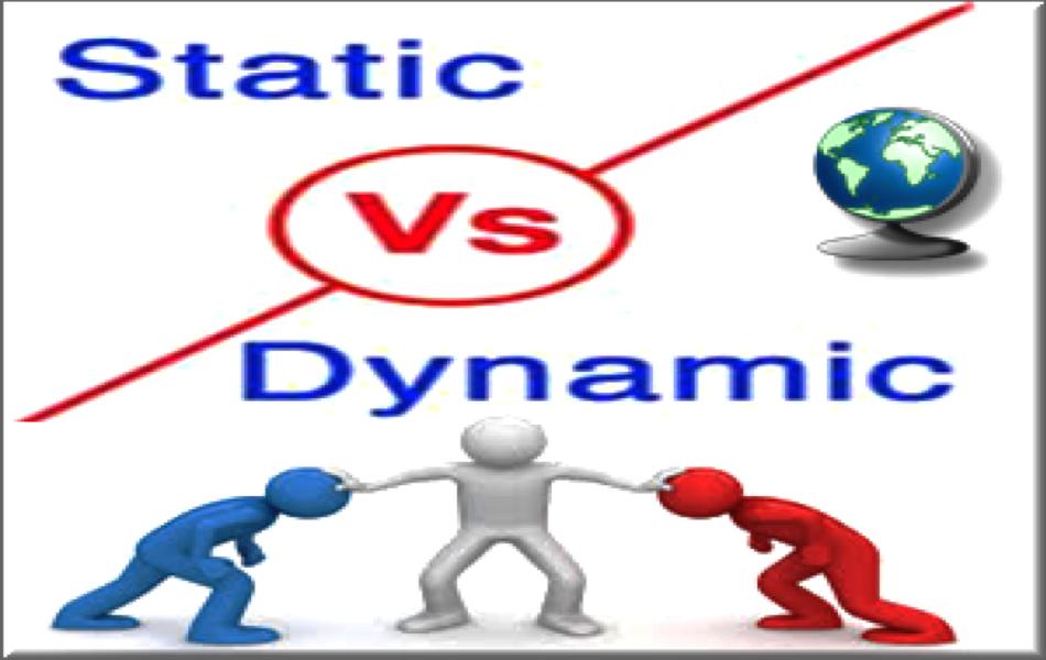 Static Vs Dynamic Websites