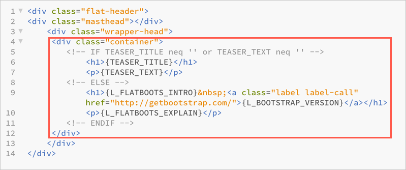 Template Header File Content