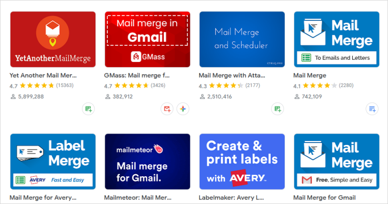 Third-party Mail Merge Apps