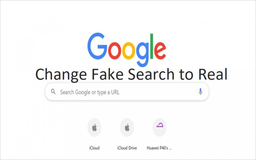 How to Change Fake Search Box to Real in Chrome New Tab Page?