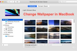 Change Wallpaper and Screen Saver in MacBook