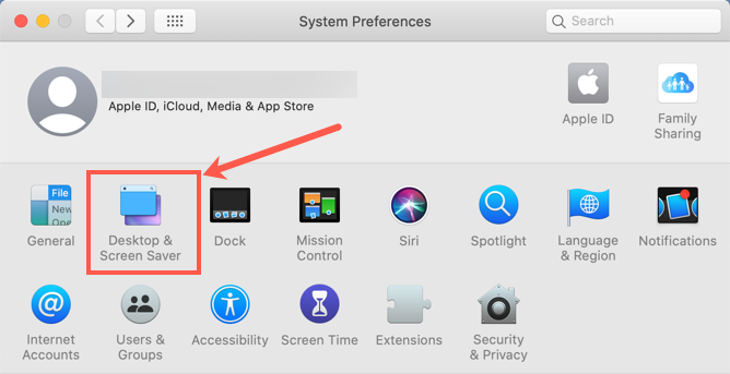 Desktop and Screen Saver Settings