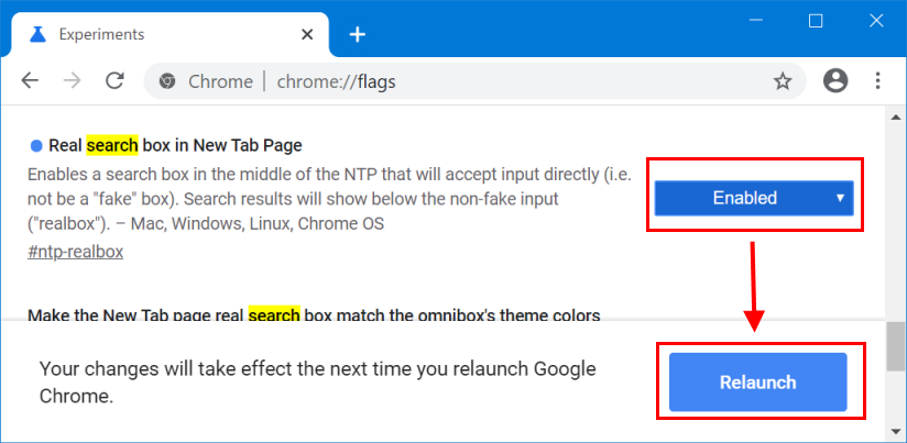 Enable Flag in Chrome