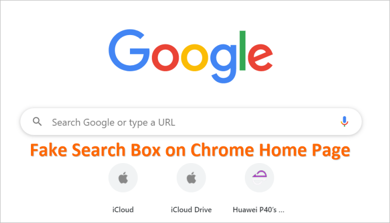 Fake Search Box in Chrome
