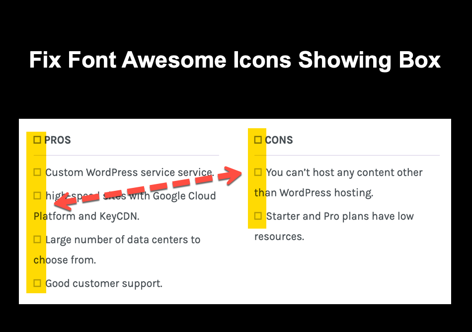 Fix Font Awesome Icons Showing Box