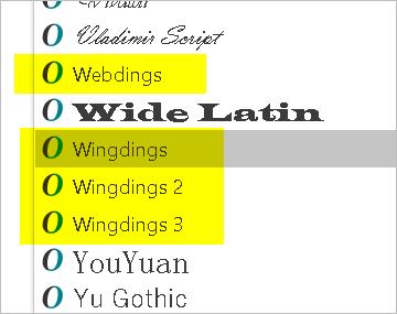 Fonts in Windows