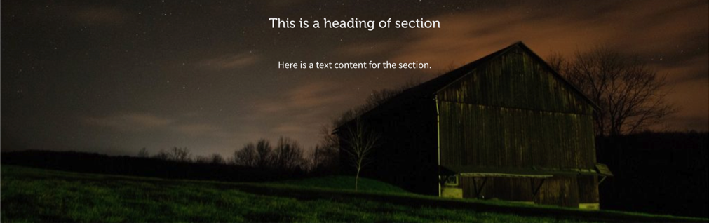 Full Width Section with Background Image