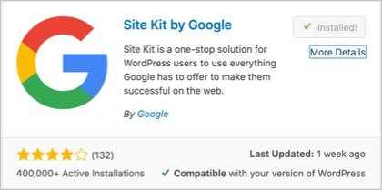 Install Google Site Kit Plugin