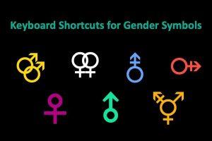Keyboard Shortcuts for Gender Symbols