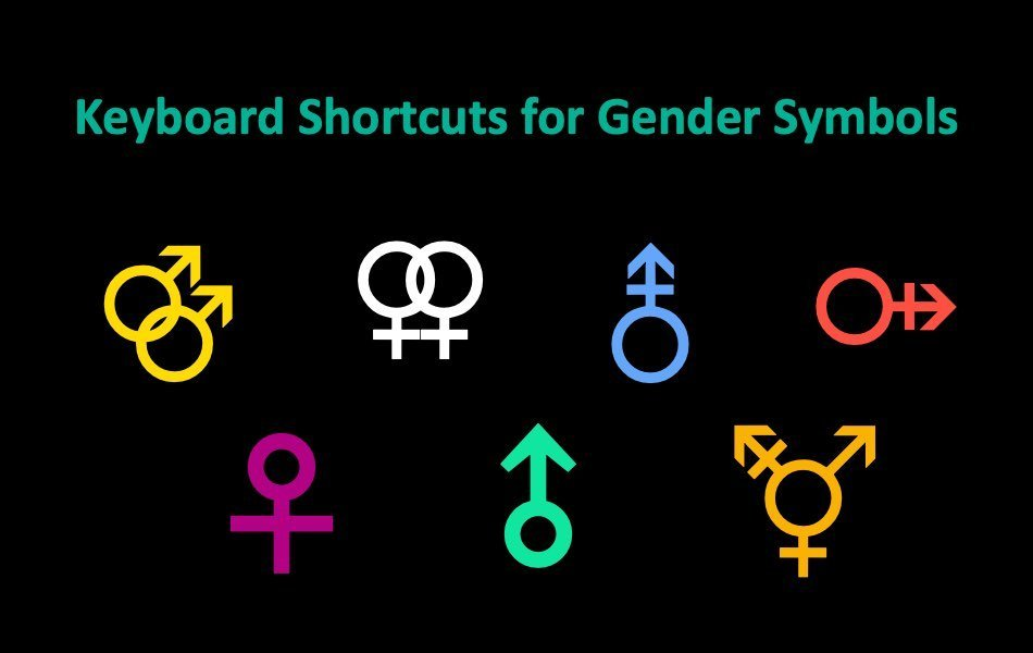Keyboard Shortcuts for Gender Symbols