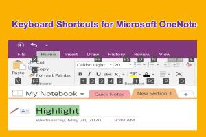 Keyboard Shortcuts for Microsoft OneNote