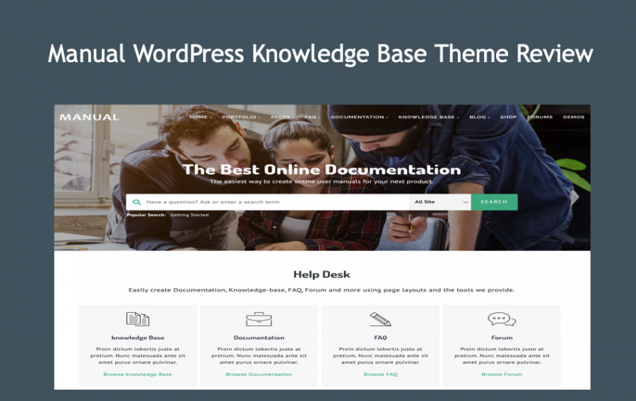 Manual WordPress Knowledge Base Theme Review