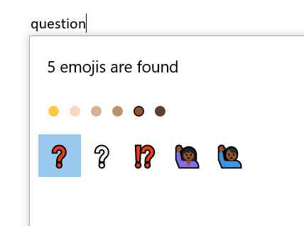 Question Mark Emoji Symbols