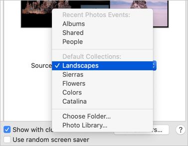 Setup Source for Screen Saver