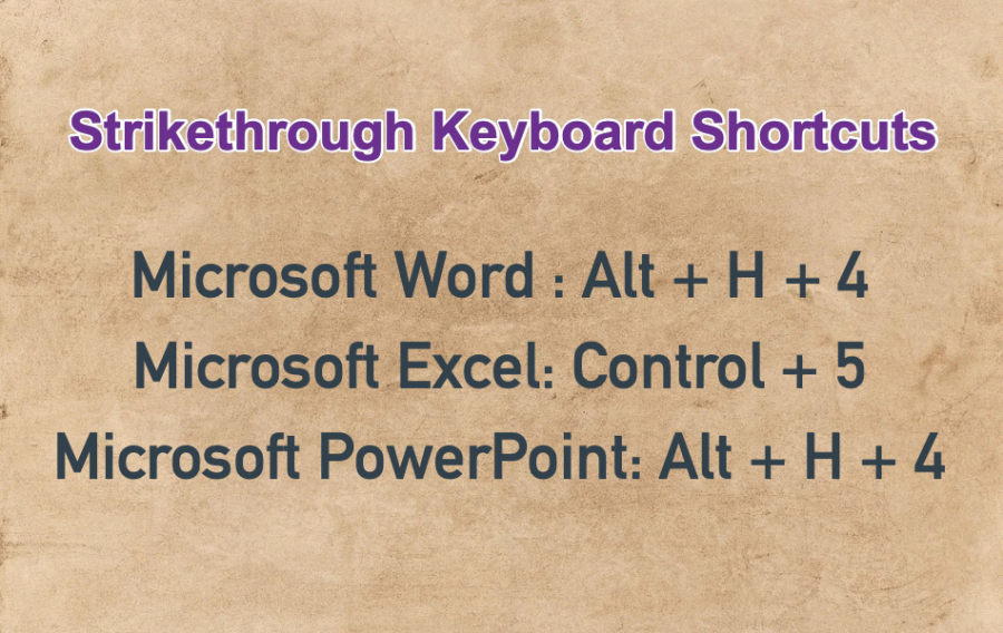 Strikethrough Keyboard Shortcuts
