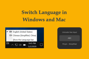 Switch Language in Windows and Mac