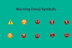 Warning Emoji Symbols