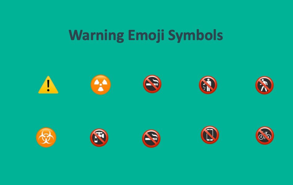 Warning Emoji Symbols