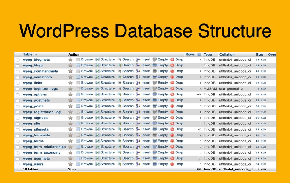 WordPress Database Structure