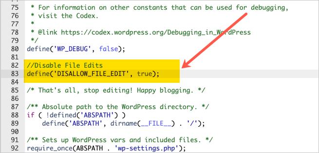 Add Code in Configuration File