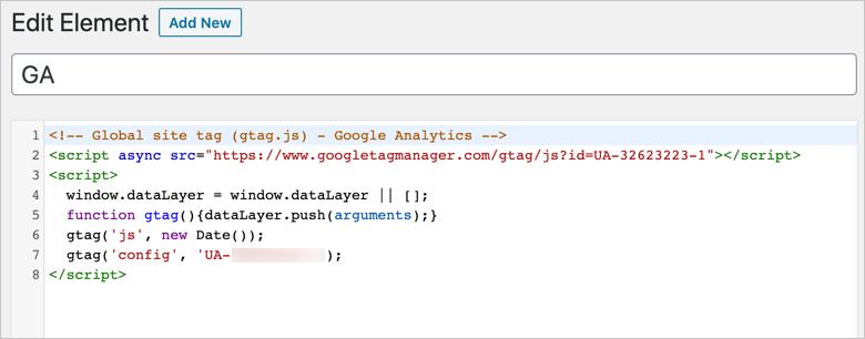 Add Google Analytics in GeneratePress
