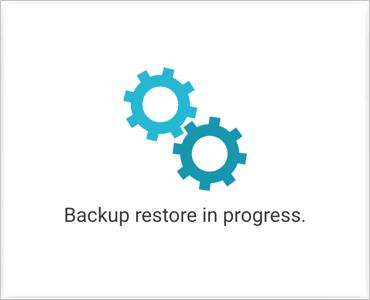Backup Restore in Progress