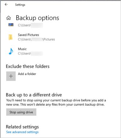 Additional Backup Options