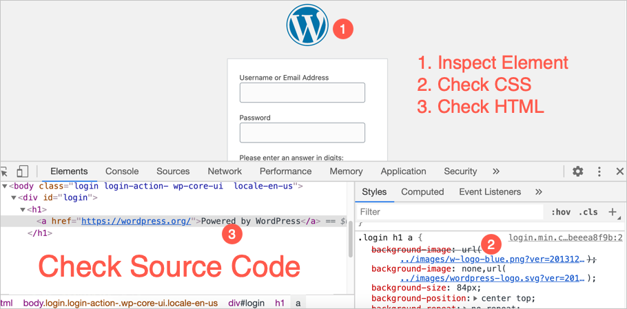 Check Login Page Source Code