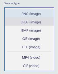 Choose Format in Paint 3D