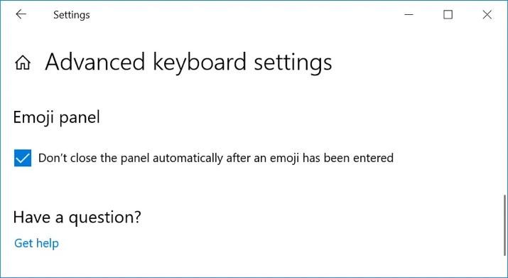 Close Emoji Panel after Insertion