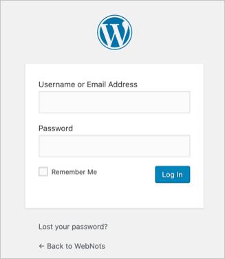Default Login Logo in WordPress