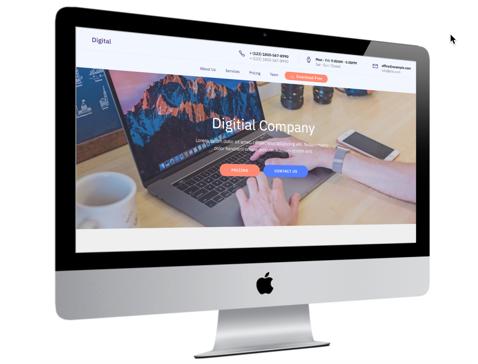 Digital Template on iMac