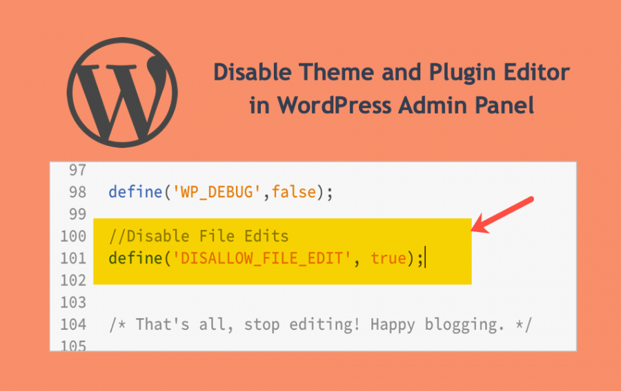 Disable Theme and Plugin Editor in WordPress Admin Panel