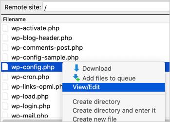 Edit Configuration File