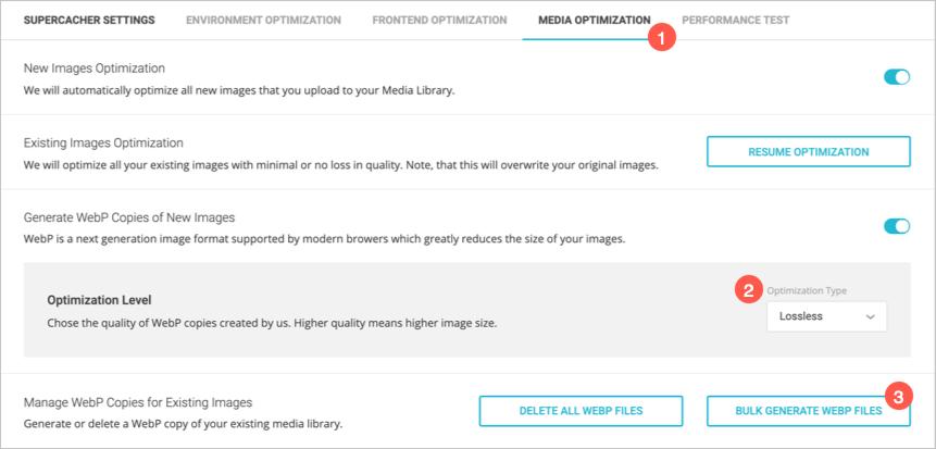 Generate WebP Images in SiteGround
