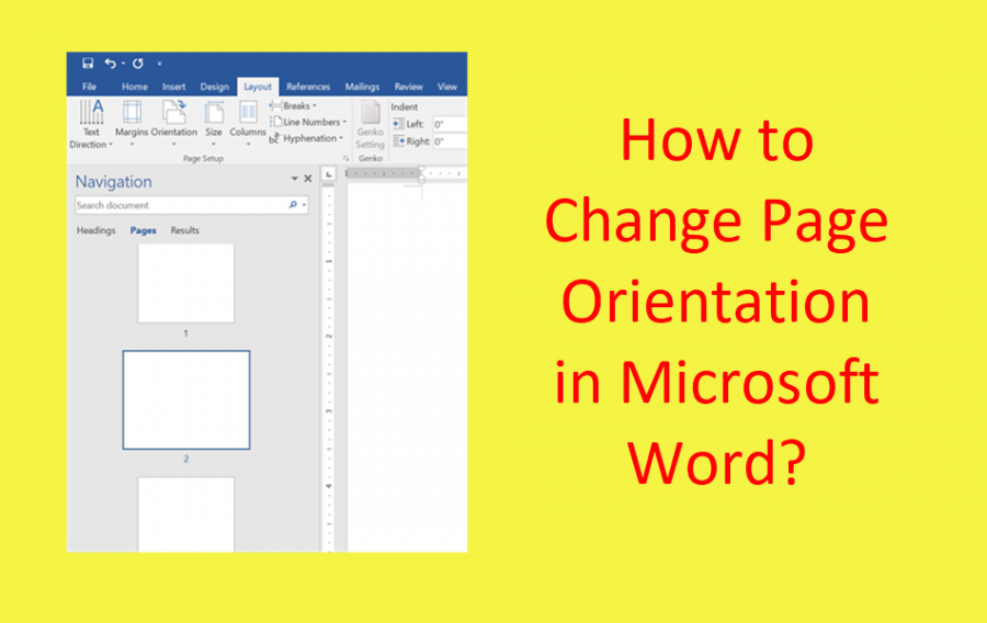 How to Change Page Orientation in Microsoft Word?