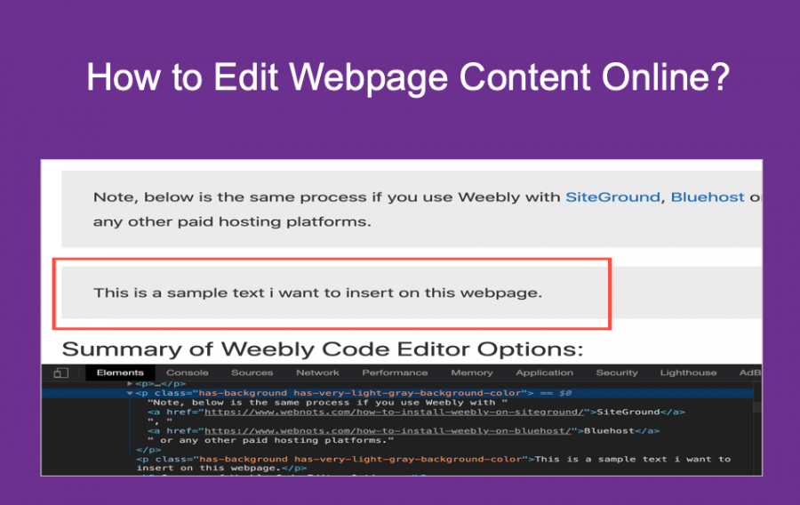 How to Edit Webpage Content Online?