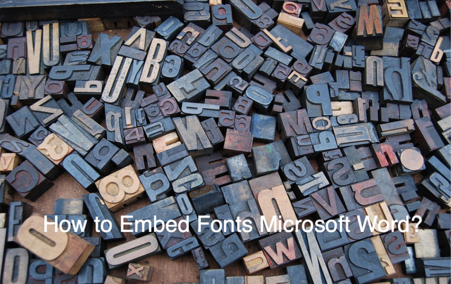How to Embed Fonts Microsoft Word?